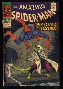 Amazing Spider-Man #44 VG+ 4.5 2nd Lizard!