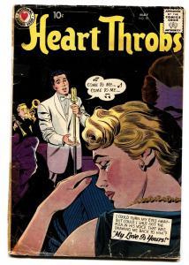 HEART THROBS #59 comic book 1959 DC-ROMANCE-Black cover-Singer