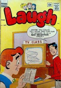 Laugh Comics #147 Archie Jughead TV Set 1963