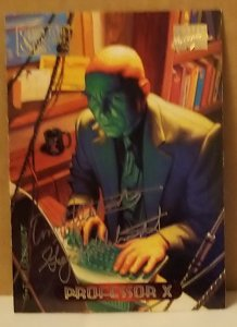 1994 Marvel Masterpieces Gold Foil Signature Series #90 Professor X/Hilderbrandt