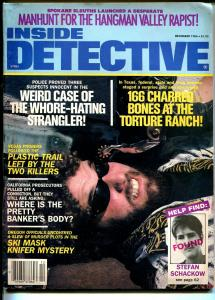 Inside Detective 12/1986-spur in man's face-violent pulp crime thrills-G