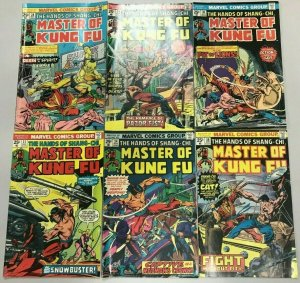 MASTER OF KUNG FU#28-39 FN/VF LOT (6 BOOKS) 1975 MARVEL BRONZE AGE COMICS