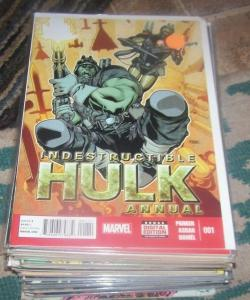 INDESTRUCTIBLE HULK # 1 annual 2013 marvel shield banner