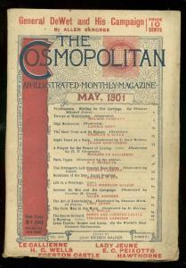 COSMOPOLITAN MAY 1901-HG WELLS-FIRST MEN ON MOON-PULP FN