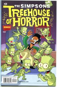 SIMPSONS TREEHOUSE OF HORROR #21, NM, Monsters, 2015, Homer, Bart, Bongo