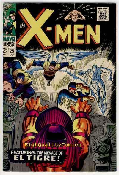 X-MEN #25, VF, EL Tigre, Movie, Mutants, Dick Ayers, 1963,