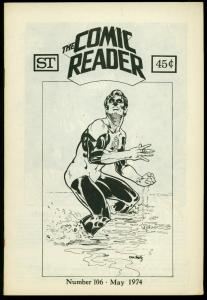Comic Reader Fanzine #106 1974-  Green Lantern cover FN