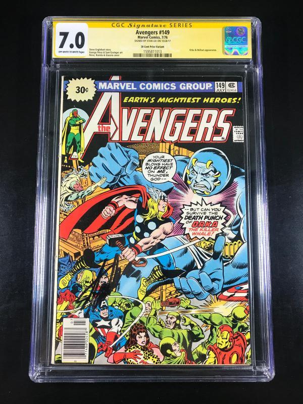Avengers #149 Price Variant (Marvel, 1976) CGC 7.0 SS Stan Lee
