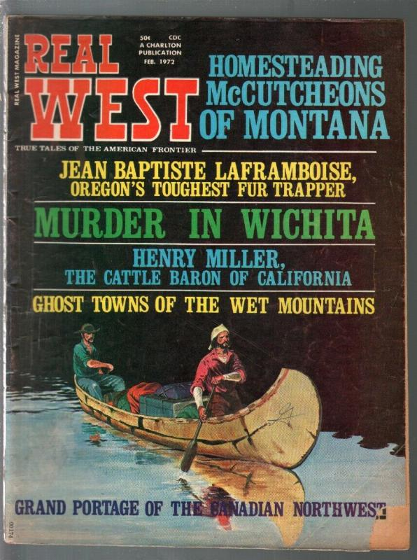 Real West 2/1972-Charlton-Jim Bowie's knife-Ghost Towns-VG