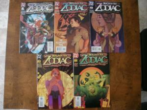 5 DC Comic Book: REIGN OF THE ZODIAC #2 #4 #5 #6 #7 (2003 2004) VG-VF