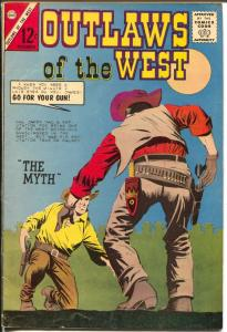 Outlaws of The West #46 1963-Charlton-gun fights=violence-Gun Master-VG+