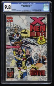 X-Men Unlimited #1 CGC NM/M 9.8 White Pages