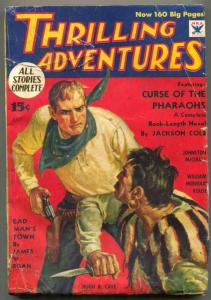 Thrilling Adventures Pulp July 1934- Curse of the Pharoahs