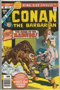 Conan the Barbarian King-Size #4 (Jan-78) NM Super-High-Grade Conan the Barba...