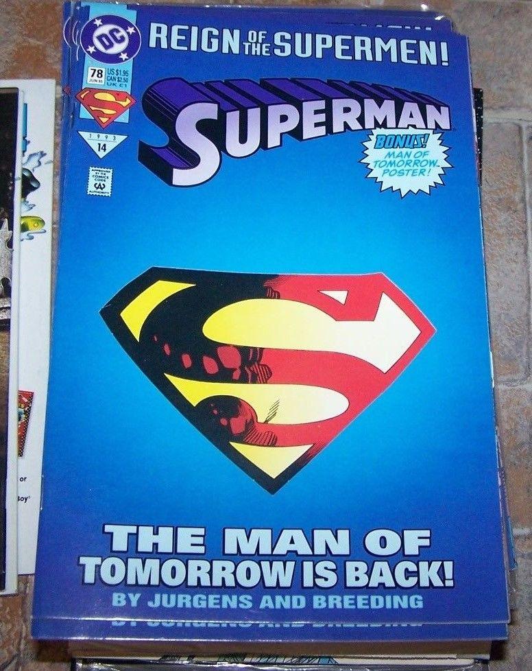 Superman #78 [Die-Cut Cover Edition] (Jun 1993, DC) REIGN OF