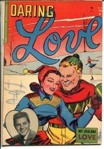 Daring Love #16 1943-Johnny Desmond-woman in jail-Vince Colleta-Wildley-VG/FN