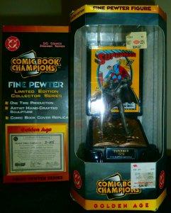 Comic Book Champions  : Golden Age Superman statue