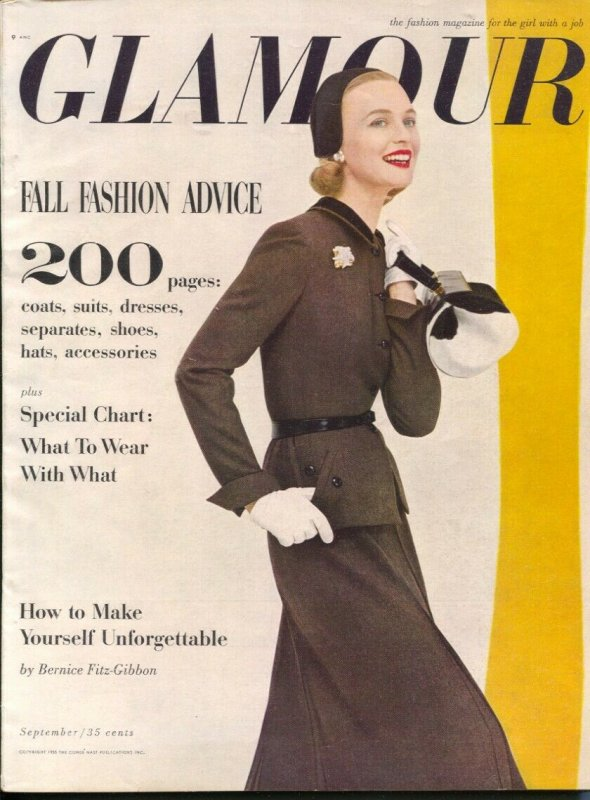 Glamour 9/1955-Conde Nast-for the girl with a job-fashion-trends-careers-make...