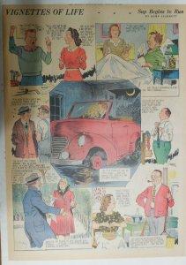 Vignettes Of Life by Kemp Starrett Sap Runs ! 3/22/1942 Size: 15 x 22 inch