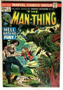 Man-Thing #2 Marvel 1974 FN- Bronze Age Comic Book 1st Print