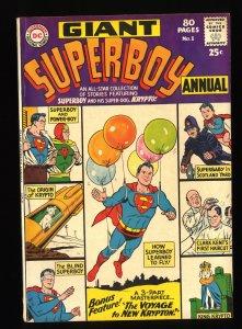 Superboy Annual #1 FN+ 6.5 (Former CGC VF- 7.5)