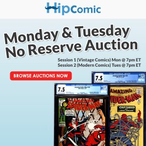 The 191th HipComic No Reserve Auction Event