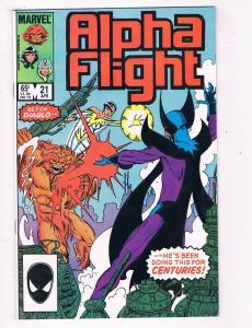 Alpha Flight #21 VF/NM Marvel Comics Copper Age Comic Book Apr 1985 DE41 AD18