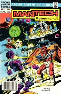 Mantech Robot Warriors #1 (Newsstand) VF/NM; Archie | save on shipping - details
