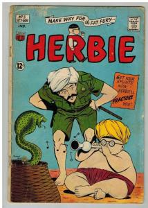 HERBIE  5 GOOD- Beatles, Sinatra, Dean Martin Oct 1964 COMICS BOOK