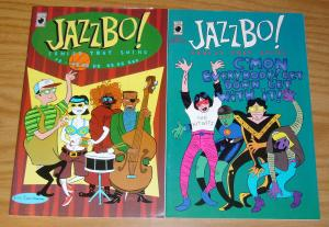 Jazzbo! Comics That Swing #1-2 FN/VF complete series - slave labor graphics set