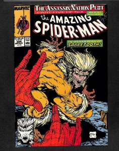Amazing Spider-Man #324 VF+ 8.5 Sabretooth McFarlane Cover!