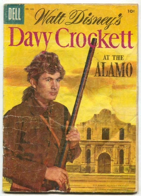 Davy Crockett at the Alamo-FOUR COLOR #639 1955-Dell comics G