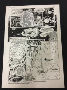 Captain Cosmos Page 24 Original Art Joe Stanton Nicola Cuti Space Opera