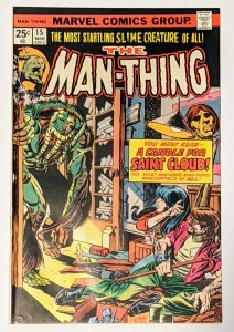 Man-Thing #15 (Mar 1975, Marvel) F/VF 7.0 Steve Gerber story
