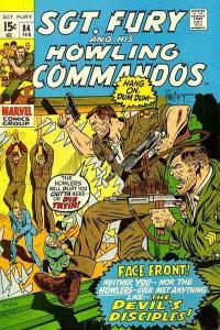Sgt. Fury #84, Fine- (Stock photo)