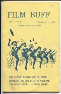 Film Buff Vol.3 #5 4/1974-Chorus line cover-historic info-VG