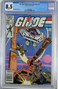 G.I. JOE  #8 (Marvel,2/83) CGC 8.5 Stalker, Scarlett, Clutch on cover