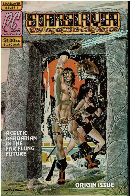 Starslayer #1, NM (Near Perfect!) 1st Starslayer/1st Rocketeer App. in Ad