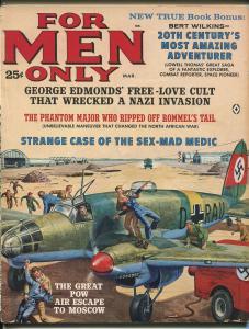 For Men Only 3/1962-Atlas-Kunstler cover-Siamese Twins-Alan Hynd-VG/FN