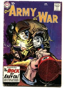 Our Army At War #81 1959 1st Sgt. Rock of Easy Co.- DC Silver age War comic