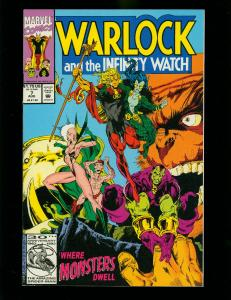 WARLOCK AND THE INFINITY WATCH #7 1992- GAMORA-THANOS-DRAX-HIGH GRADE