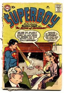 SUPERBOY #62 comic book-1957-DC-LOW GRADE 1ST SUPERBOY SISTER