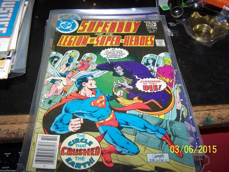 SUPERBOY & LEGION OF SUPER HEROES COMIC # 244  1978  dc  BRONZE  AGE