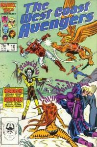 West Coast Avengers (1985 series) #10, NM- (Stock photo)