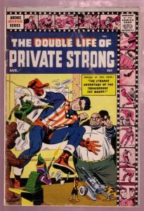 THE DOUBLE LIFE OF PRIVATE STRONG #2 1959-SHIELD-KIRBY VG