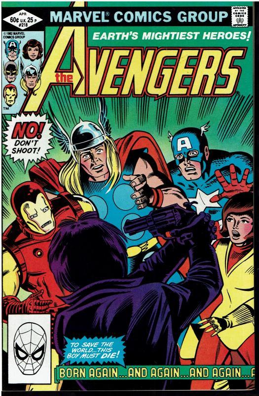 Avengers #218, 9.0 or Better