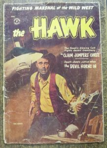 THE HAWK #6 (St. Johns, 5/1955) GOOD minus heavy spine split