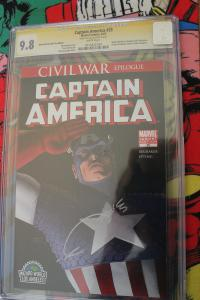 Captain America #25 Signature Series (Marvel, 2007) CGC NM/MT 9.8 White pages.