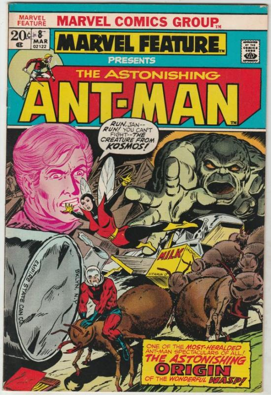 Marvel Feature presents Ant-Man, The Astonishing #8 (Mar-72) FN/VF+ High-Grad...