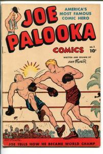 JOE PALOOKA  #1 1945-HARVEY-BOXING-1ST ISSUE-HAM FISHER-fn+